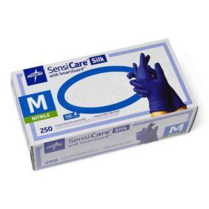 medline nitrile examination gloves blue covid